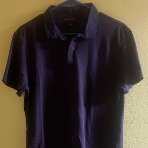 Banana Republic slub cotton polo shirt